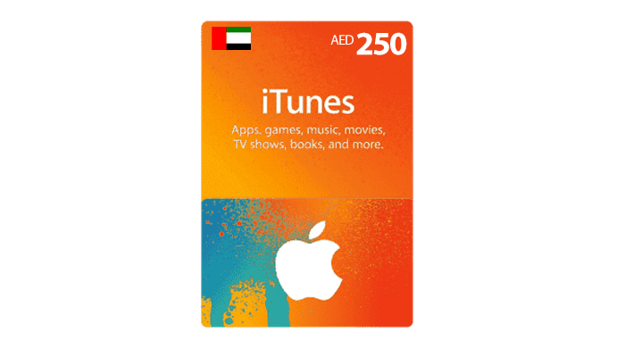 شراء بطاقة ايتونز اماراتي 250 درهم بسرعه و بطريقة آمنة ومضمونة و بأرخص الاسعار | ايزي باي فور نت